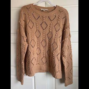 Camel Textured Loft Sweater NWOT 🌺